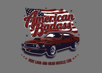 American Badass buy t shirt design