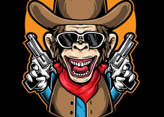 Ape Cowboy buy t shirt design
