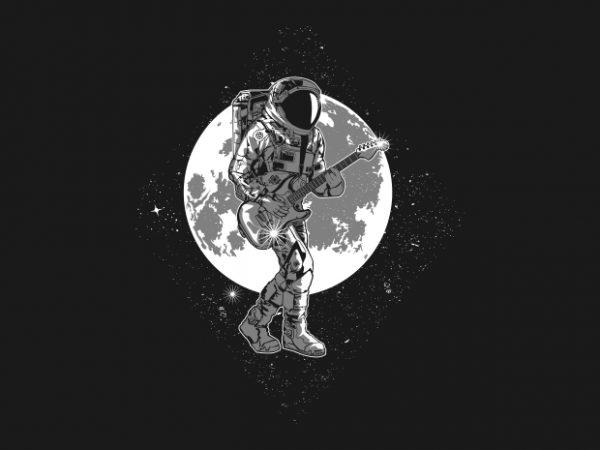 astronaut rockstar t shirt vector