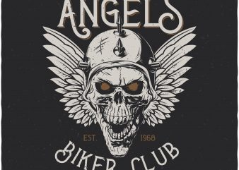 Steel angels. Vector T-Shirt Design