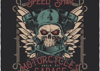 Speed Shop. Vector T-Shirt Design