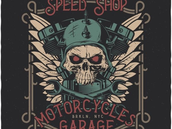 Speed Shop. Vector T-Shirt Design buy t shirt design