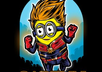 Captain Minionz t shirt vector file