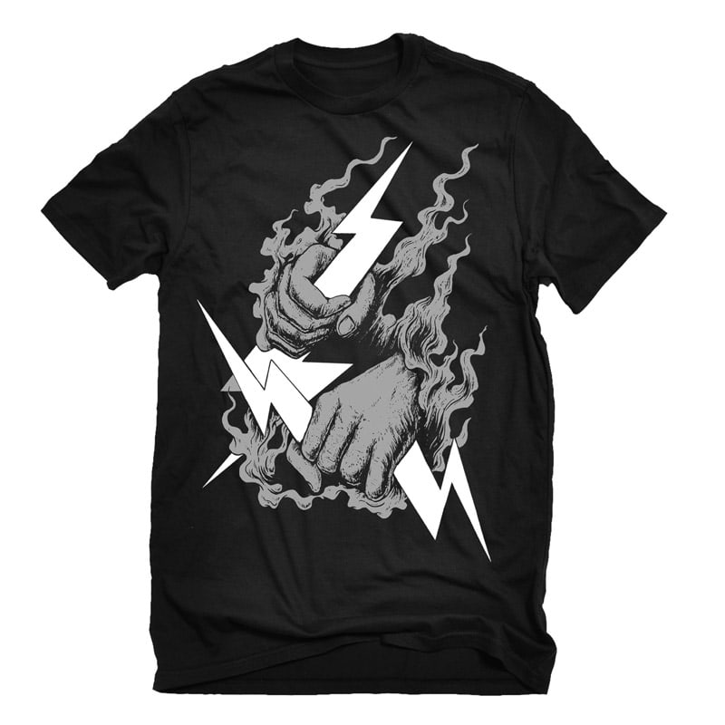 Catching Thunder Tshirt Design buy t shirt design