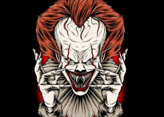 Clowns t shirt vector file