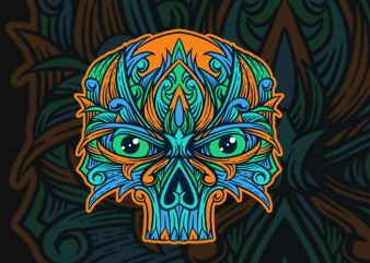 ornament skull T-shirt Design