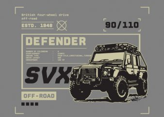 Defender buy t shirt design