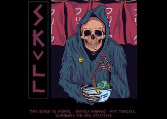 eat skull . illustrator skull buy t shirt design