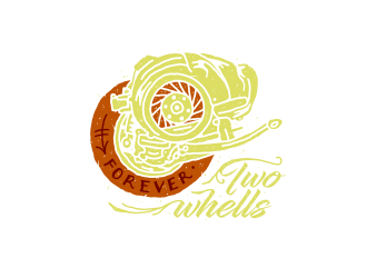 forever two whells t shirt graphic design