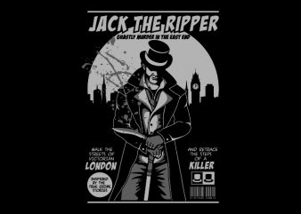 jack the ripper vector clipart