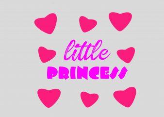 Little Princess t shirt vector graphic