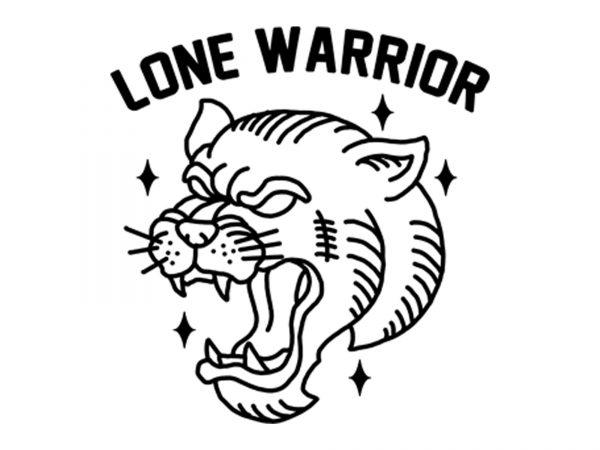 lone warrior tshit design buy t shirt design