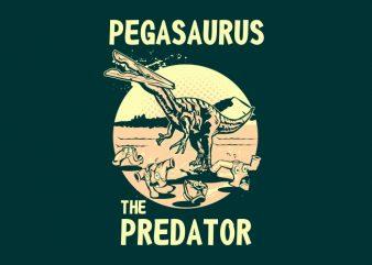 PEGASAURUS t shirt illustration