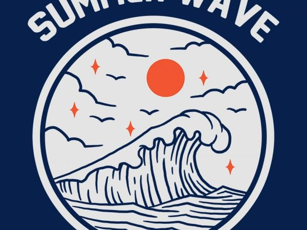 summer wave thsirt design