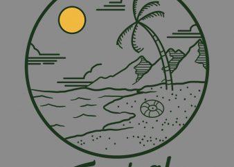 tropical vibes tshirt design