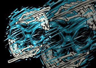 Hydro Skull graphic t shirt