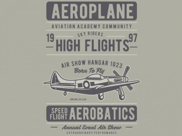 Aeroplane buy t shirt design