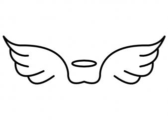 Angel wings minimalistic heaven tattoo vector t shirt design buy t shirt design