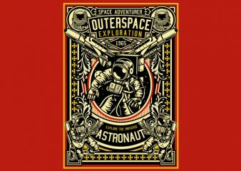Astronaut Outerspace Exploration t shirt vector
