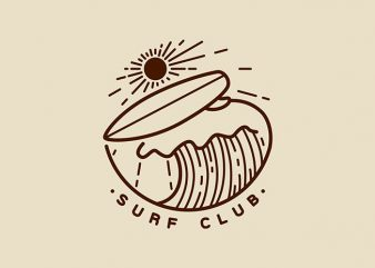 Surf Club t shirt template