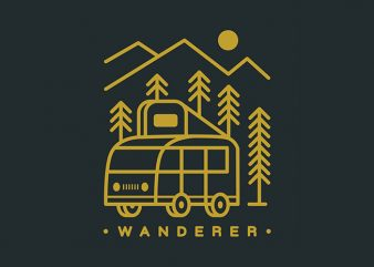 Wanderer t shirt design for sale