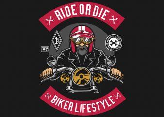 Biker buy t shirt design