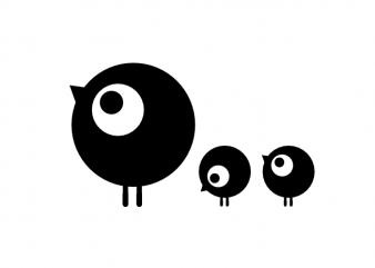 Bird family child vector t shirt printing design