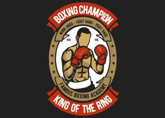 Boxing buy t shirt design