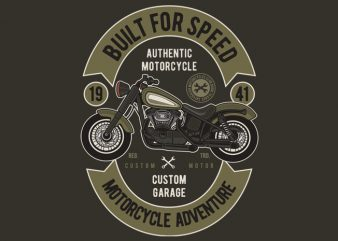 Built For Speed t shirt template