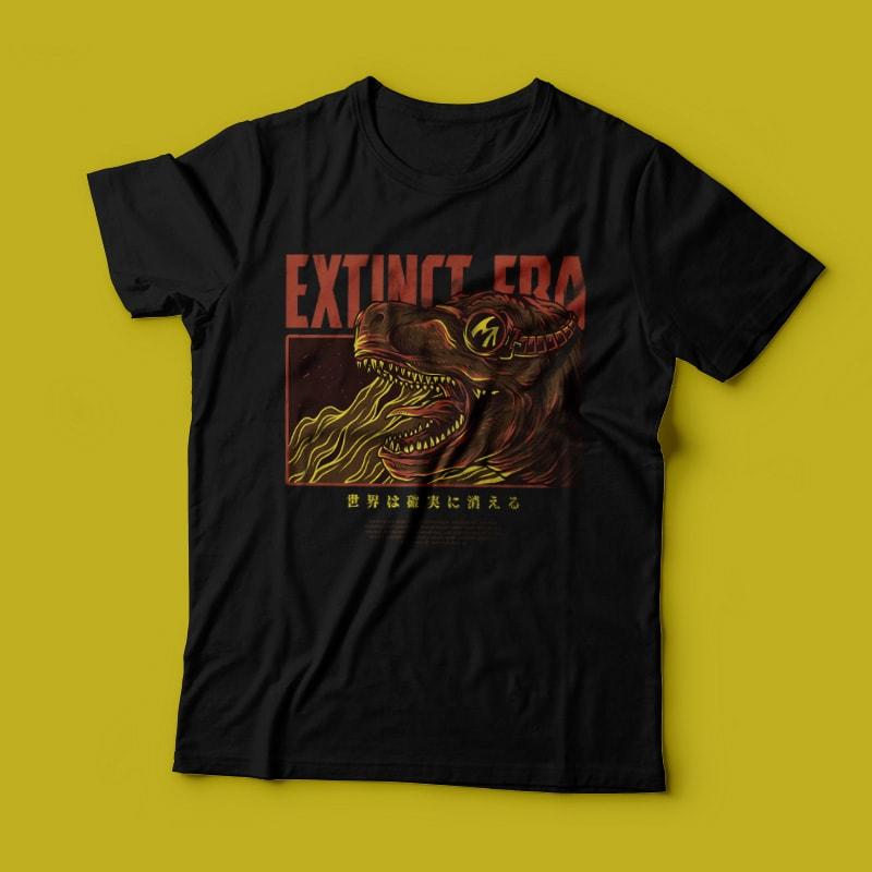 Extict Era T-Shirt Design buy t shirt design
