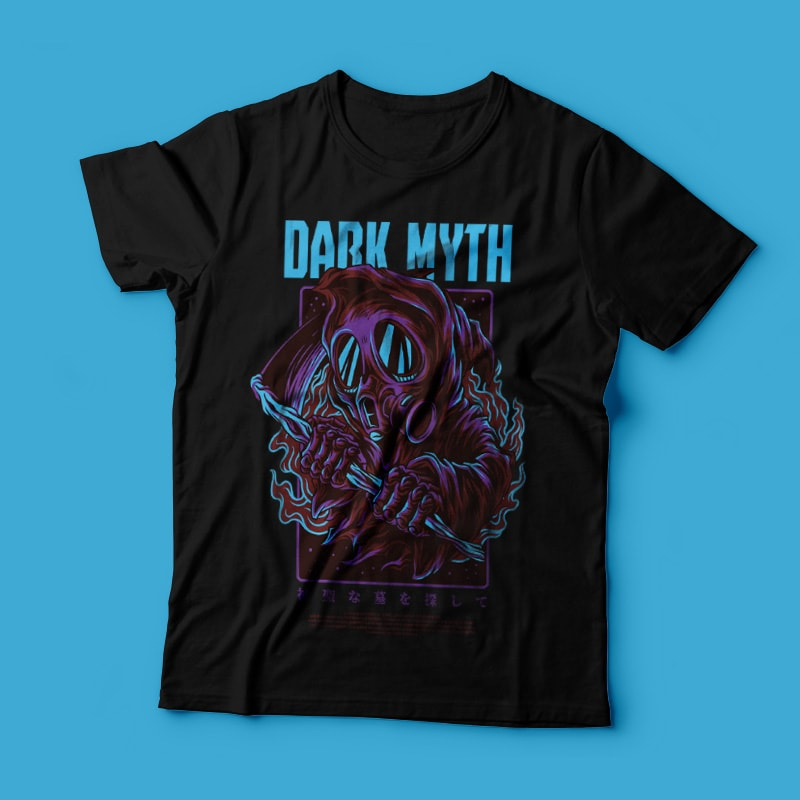 Dark Myth T-Shirt Design buy t shirt design