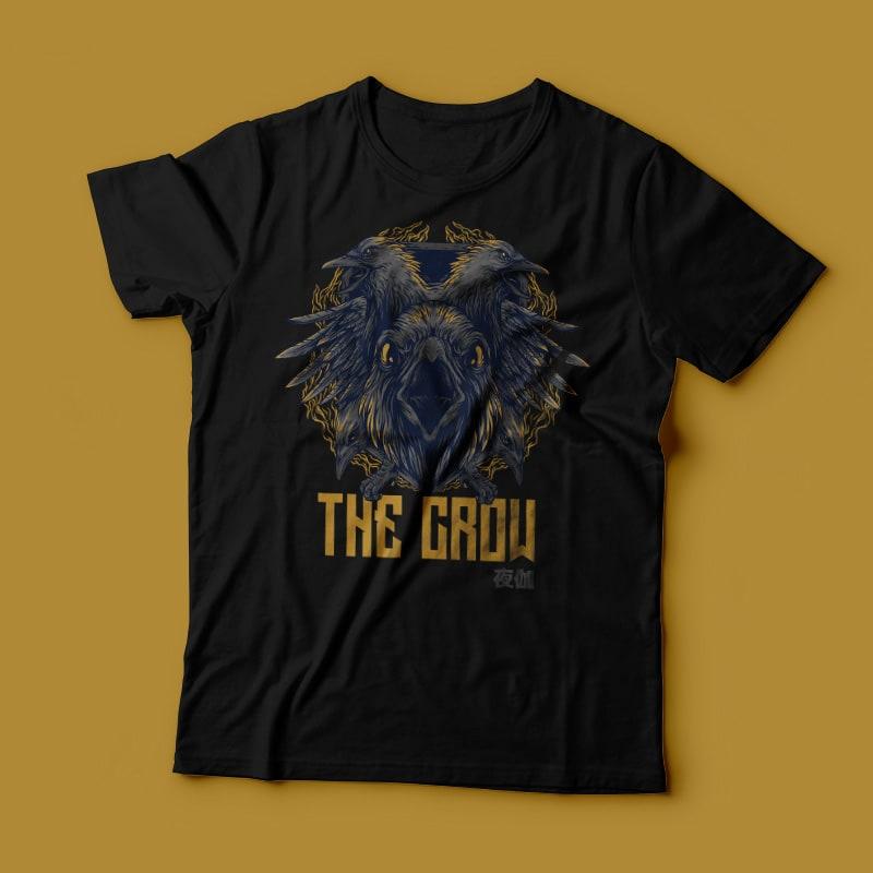 The Crow Remastered T-Shirt Design buy t shirt design