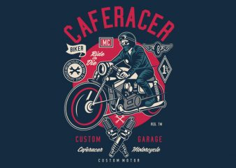 Caferacer buy t shirt design