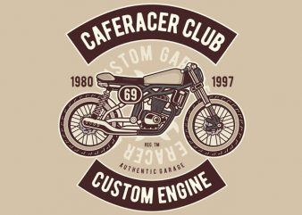 Caferacer Club t shirt vector file