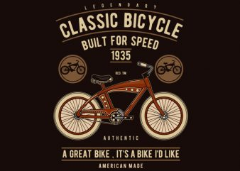 Classic Bicycle buy t shirt design