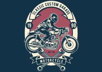 Classic Custom Garage buy t shirt design