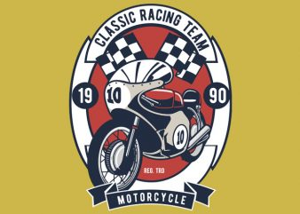 Classic Racing Team t shirt vector file