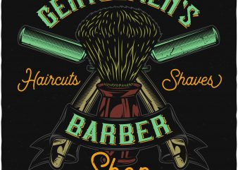 Haircuts and shaves. Vector T-Shirt Design
