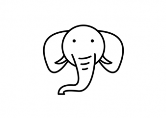 Cute little elephant tattoo vector t shirt design
