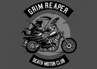 Death Motorcycle Club t shirt vector illustration