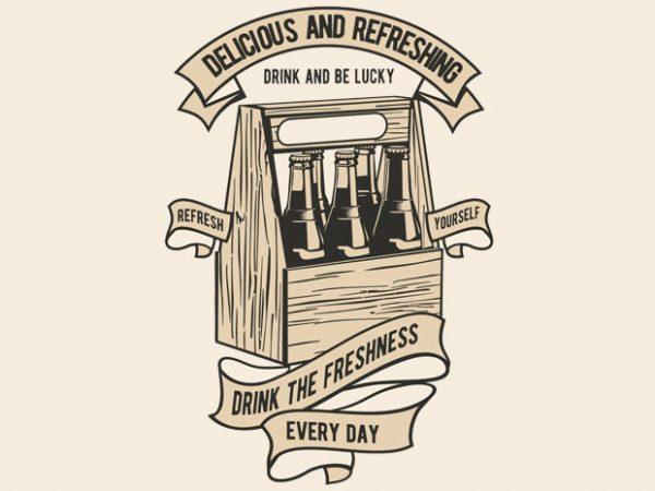 Drink The Freshness buy t shirt design