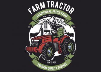 Farm Tractor buy t shirt design
