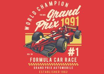 Formula Car Race t shirt graphic design
