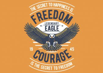Freedom Eagle t shirt graphic design