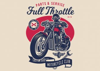 Full Throttle buy t shirt design