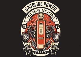 Gasoline Power t shirt design template