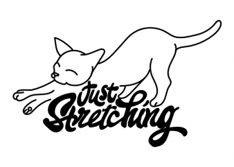Just stretching yoga cat sport t shirt printing design buy t shirt design