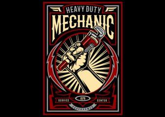 Mechanic buy t shirt design