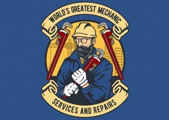 Mechanic man buy t shirt design