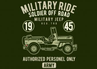 Military Ride t shirt template